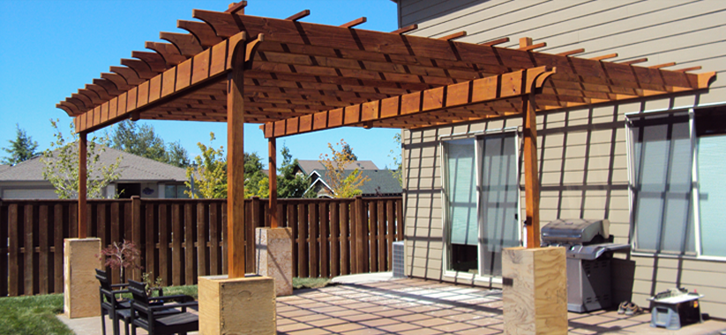 Custom Custom Pergola - Landon Construction - Landon Construction - Deck, Patio, Porch And Pergola