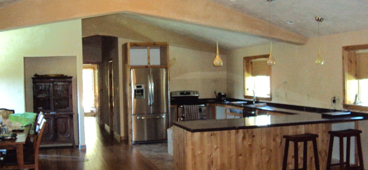 Landon construction remodeling for Barn home interior pictures